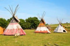 Tepees, teepee, wigwam royalty free stock image