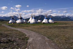 tepees village Stock Image