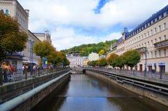 Tepla flod i Karlsbad (Karlovy varierar), Royaltyfri Foto