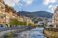 Tepla river in Karlovy Vary, Czech republic. Tepla river in Karlovy Vary city center, Czech republic Stock Images