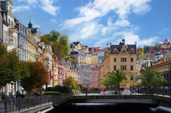 Tepla river in Karlsbad (Karlovy Vary). Czech republic Stock Images