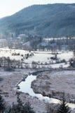 Tepla River in snowy winter landscape near Cihelny, Karlovy Vary. Tepla River in beautiful snowy winter landscape near Cihelny before Brezova dam, Karlovy Vary Stock Photos