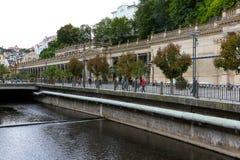 Tepla rzeka i Młyńska kolumnada zdjęcie royalty free