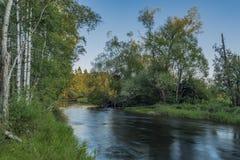 Tepla Vltava rzeka blisko Soumarsky Najwięcej wioski obrazy royalty free