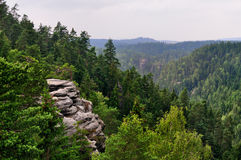 Teplice Rock Formations, Bohemia Stock Photos