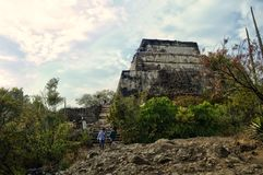 Free Tepozteco Hill. Archaeological Site Located In The Mexican State Of Morelos. Tourists Touring The Archaeological Zone. Stock Photo - 150903210