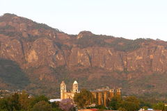 Tepoztlan IV. Aerial view of the magic town of tepoztlan, mexican state of morelos stock photo