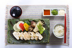 Teppan Yaki Dish Stock Photo
