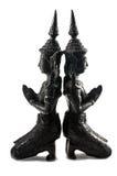 Teppanom tailandés Angel Statuettes Closeup foto de archivo