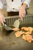 Teppanyaki di torrefazione Immagine Stock