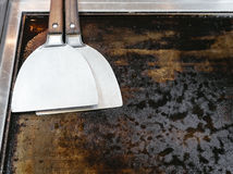 Teppanyaki Hotplate and Spatula Stock Photo