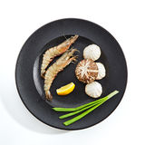 Preparation of ingredients for frying on teppan Royalty Free Stock Photo