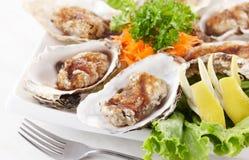 Teppanyaki oyster Stock Image