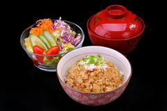 Teppanyaki rice set Stock Image