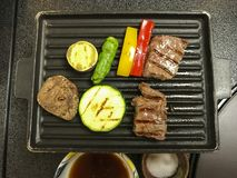 Teppanyaki tabletop cooking Hakone Japan stock photo
