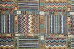 Teppich mit ethnischen Verzierungen Lizenzfreie Stockbilder