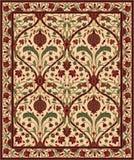 Teppich mit Granatapfel vektor abbildung