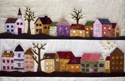 Teppich mit Landschaft Lizenzfreies Stockbild