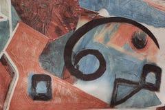 Teppich mit merkwürdigem Symbol stockfoto