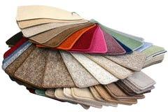 Teppich-Proben Stockfoto