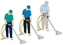 Teppich-Reinigungs-Technologie-Klipp-Kunst stellte 5 ein vektor abbildung