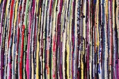 Teppich von farbigen Lappen Lizenzfreie Stockfotografie