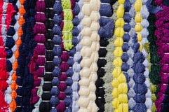 Teppich von farbigen Lappen Lizenzfreie Stockbilder