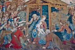 Teppichmalerei im Vatikan Stockbild