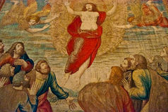 Teppichmalerei im Vatikan Lizenzfreies Stockfoto