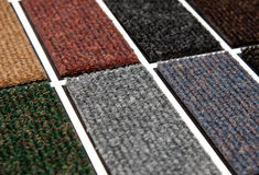 Teppichproben Stockbild