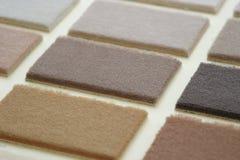 Teppichproben Stockfoto