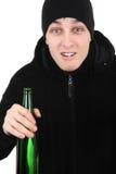 Teppista con una birra Fotografia Stock
