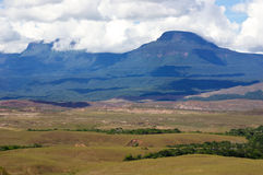 Tepui in Venezuela. Table-top mountains called Tepui in Gran Sabana, Guayana Highlands, Venezuela, South America. Events of novel of A.Conan-Doyle The Lost World Stock Photography