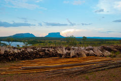 Tepuy. Landscape of Canaima tepuys in Venezuela Royalty Free Stock Images