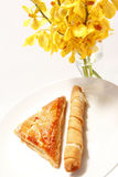 Tequeño and jam pastry Stock Photo