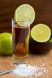 Tequila, ασβέστης και άλας Στοκ φωτογραφία με δικαίωμα ελεύθερης χρήσης