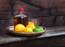 Tequila και εσπεριδοειδή Στοκ Εικόνες