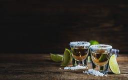 Tequila avec la limette photos libres de droits