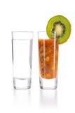Tequila avec le chasseur de Sangrita Images stock