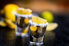 Tequila avec le citron photographie stock libre de droits