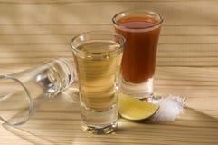 Tequila avec Sangrita Images stock
