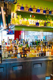 Tequila Bar Alcohol Selection Royalty Free Stock Photos