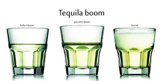 Tequila boom cocktail Stock Image
