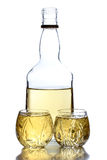 Tequila bottle shots Royalty Free Stock Image