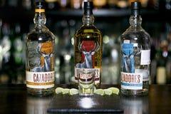 Tequila Cazadores in una bottiglia fotografie stock libere da diritti