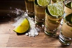 Tequila, chaux et sel image libre de droits