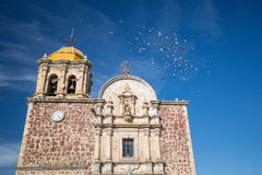 Tequila church. Jalisco, Mexico stock photography