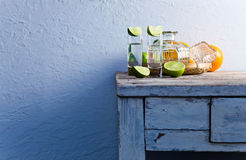 Tequila and citrus fruits Stock Image