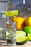 Tequila and citrus fruits Royalty Free Stock Image