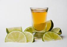 Tequila con las cales Fotografía de archivo